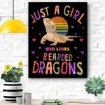Just A Girl Who Loves Bearded Dragons Canvas Prints Wall Art - Matte Canvas