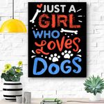 Just A Girl Who Loves Dog Funny Gift Dog School Canvas Prints Wall Art - Matte Canvas