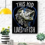 Kids Fishing This Kid Loves To Fish Canvas Prints Wall Art - Matte Canvas