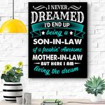 Mens Funny Son In Law Of A Freaking Awesome Mother In Law Canvas Prints Wall Art - Matte Canvas