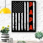 Mens Proud Papa Funny Fathers Day 2020 Gifts From Grandchildren Canvas Prints Wall Art - Matte Canvas
