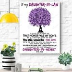 Mom To Daughter In Law Canvas Prints Wall Art - Matte Canvas