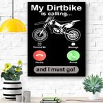 Off Road Motocross Dirt Bike Dirtbike Riders Brap Canvas Prints Wall Art - Matte Canvas