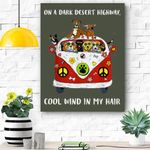 On A Dark Desert Highway Dog Feel Cool Wind In My Hair Canvas Prints Wall Art - Matte Canvas