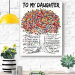 Mom To Daughter Canvas Prints Wall Art - Matte Canvas