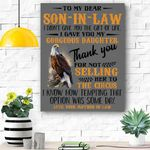 Option Is Some Days - Best Gift For Son-In-Law Canvas Prints Wall Art - Matte Canvas
