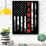 Pawpaw Gift America Flag Christmas Gift For Men Father Dad Canvas Prints Wall Art - Matte Canvas
