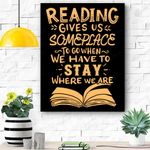 Reading Reader Book Lover Literature Library Month Gift Canvas Prints Wall Art - Matte Canvas