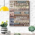 So Proud Of You - Special Gift For Daughter Canvas Prints Wall Art - Matte Canvas