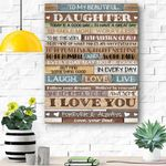 To My Beautiful Daughter Canvas Prints Wall Art - Matte Canvas