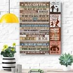 To My Daughter - Green Wooden - For All The Thing Canvas Prints Wall Art - Matte Canvas