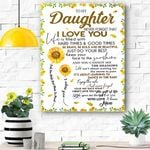 To My Daughter - Sunflower Canvas Prints Wall Art - Matte Canvas