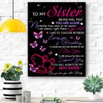 To My Sister Canvas Prints Wall Art - Matte Canvas