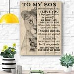 To My Son Canvas Prints Wall Art - Matte Canvas