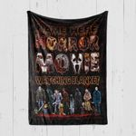 Custom Blanket Personalized Name This Is My Horror Movie Watching Blanket - Quilt Blanket