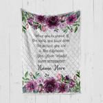 Custom Blanket Personalized Retirement Gifts For Women - Quilt Blanket