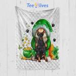 Custom Blanket Dobermann Blanket - Gift For Saint Patrick's Day - Quilt Blanket