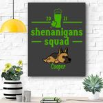 Custom Canvas Shenanigans Squad Canvas - Gift For Saint Patrick's Day - Matte Canvas