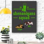 Custom Canvas Shenanigans Squad Canvas - Gift For Saint Patrick's Day - Matte Canvas