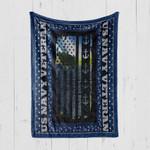 Custom Blanket U.S Navy Veteran - Quilt Blanket