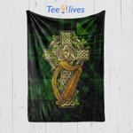 Custom Blanket Irish Celtic Cross Blanket - Gift For Saint Patrick's Day - Quilt Blanket