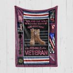 Custom Blanket Female Veteran 3