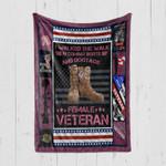 Custom Blanket Female Veteran 3 - Quilt Blanket