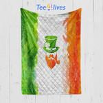 Custom Blanket Irish Man - Happy Saint Patrick's Day - Quilt Blanket