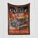Custom Blanket Hot Rod Garage My Toys My Tools My Rules Blanket