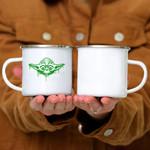 Custom Mug Star Wars Yoda Neon Tonal Green Oozing Face Drip -  Campfire Mug