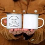 Custom Mug Work From Home Employee of The Month Since March 2020 Gifts -  Campfire Mug