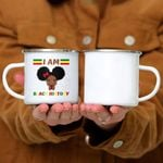 Custom Mug I Am The Strong African Queen Girls Black History Month - Campfire Mug