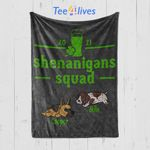 Custom Blanket Shenanigans Squad Blanket - Gift For Saint Patrick's Day - Quilt Blanket