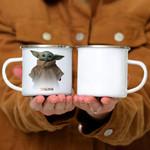 Custom Mug Star Wars The Mandalorian Logo The Child Simple Portrait - Campfire Mug