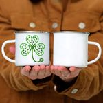 Custom Mug Womens Shamrock Stethoscope Nurse St Patricks Day Lucky - Campfire Mug
