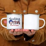 Custom Mug Teaching Is My Thing Teacher Squad - Campfire Mug