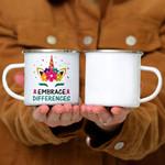 Custom Mug Embrace Differences Unicorn Shirt Autism Awareness -  Campfire Mug