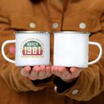 Custom Mug 40 Years Old Gift March 1981 40th Quarantine Birthday -  Campfire Mug
