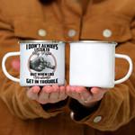 Custom Mug We Always Get In Trouble - Best Gift For Grandkid - Campfire Mug