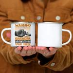 Custom Mug Warning I Have A Crazy Grandpa 2 - Gift For Grandpa - Campfire Mug