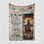 Custom Blanket Personalized Name Letter Lion To My Son - Gift From Mom - Quilt Blanket