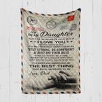 Custom Blanket Personalized Name Letter My Dear Daughter - Gift From Dad - Quilt Blanket