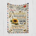 Custom Blanket Personalized Name Letter Sunflower To My Daughter - Gift From Dad