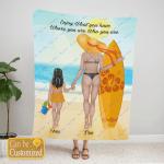 Custom Blanket Personalized Blanket Enjoy What You Have - Gift For Mom - Fleece Blanket