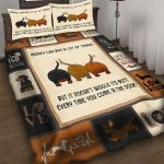 Custom Bedding Dachshund Wiggles Its Butt Every Time You Come In The Door Bedding Set