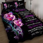 Custom Bedding Set To My Mom Gift From Daughter Roses - Mother Day Gifts 2021
