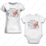 Personalized Combo Women's T-Shirt + Onesie Our First Mother's Gifts Day 2021- Gift For Mother Day - Premium Women's T-shirt + Onesie