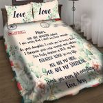 Custom Bedding Letter To My Mom Gift From Daughter Flower Watercolor Bedding Set