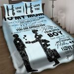Custom Bedding To My Mom Gift From Son Puzzle Bedding Set