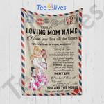 Custom Blanket Personalized Name To My Loving Mom Letter Blanket 1 - Gift For Mom
